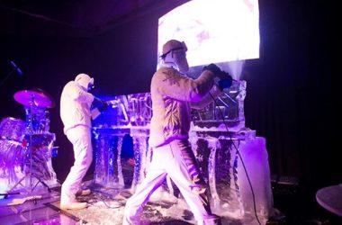 esculturas de gelo no porto