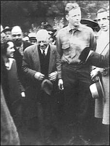O casal Lindbergh em Valença