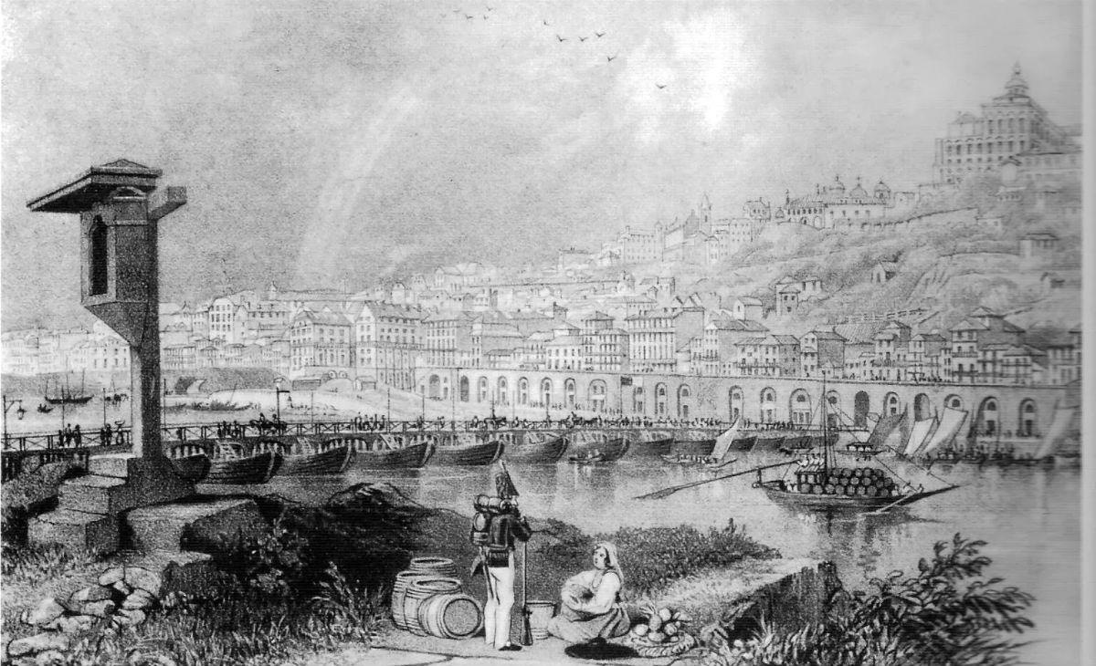 A ponte das barcas foi a primeira travessia permanente entre Porto e Gaia