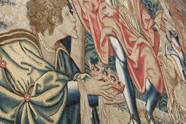 pormenor das tapeçarias flamengas Édipo Rei