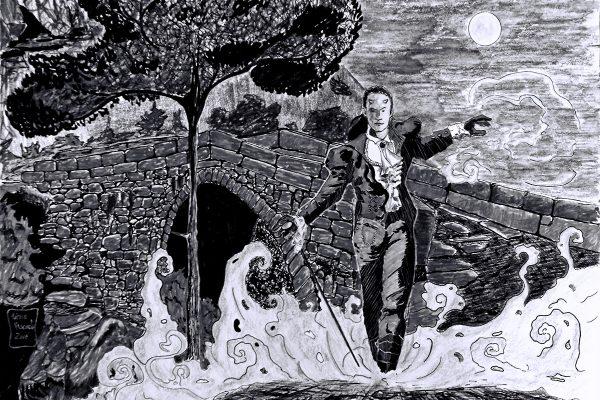 Ponte do diabo: Ilustração de Mário Vasconcelos