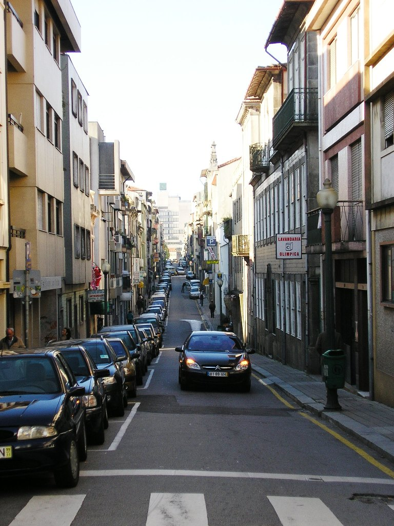 A rua das galerias