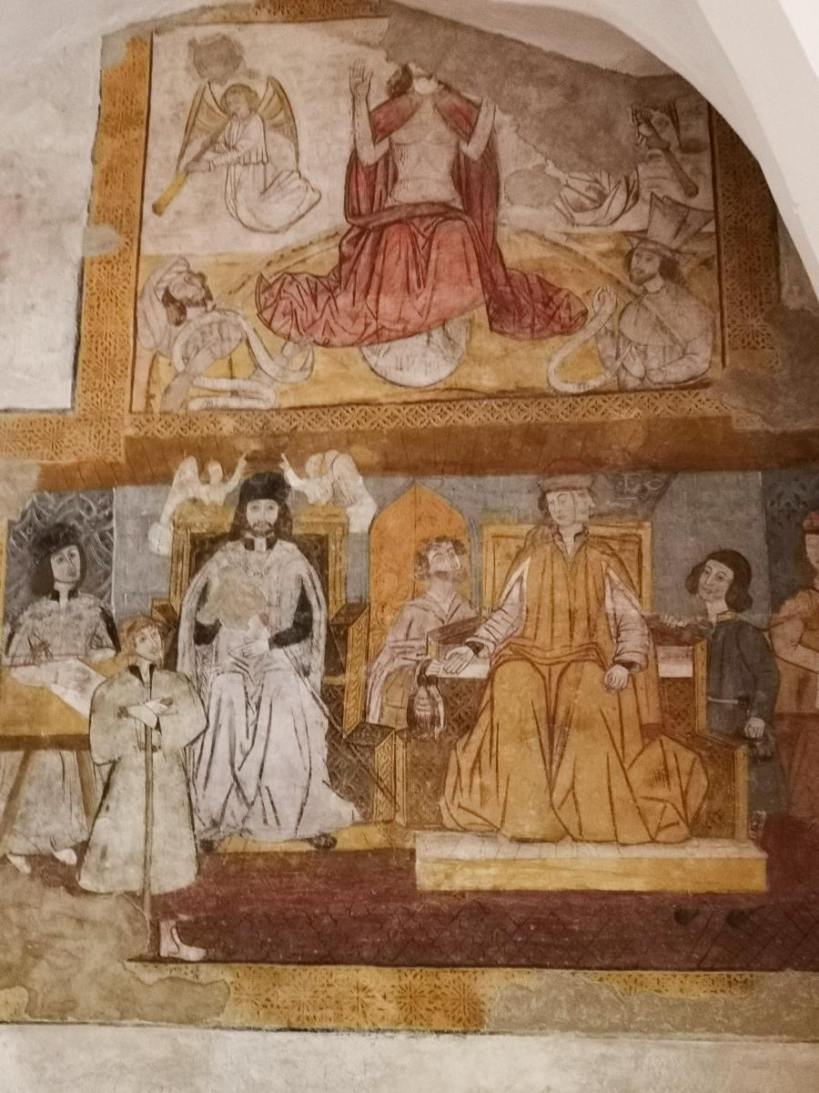A temática do fresco é caso único em Portugal